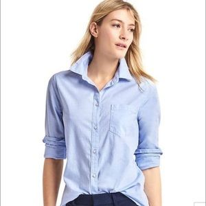 Gap The shrunken boyfriend shirt xs