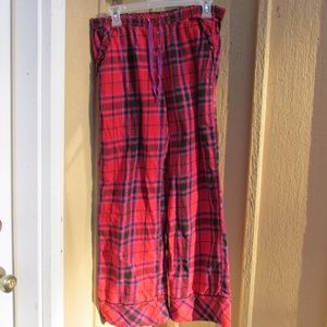 PINK VS flannel pj bottoms