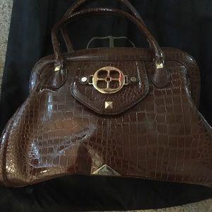 IMAN brown reptile oversized Handbag