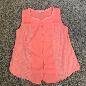 Stitchfix Skies are Blue Neon Button Down Tank XS
