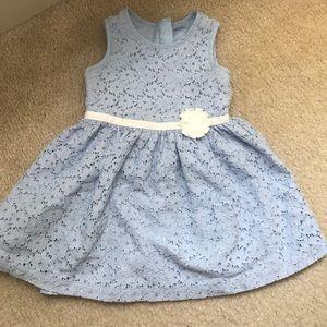 Carter's 2t blue lace dress