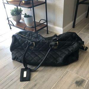Steve Madden / Black Luggage Duffel Bag