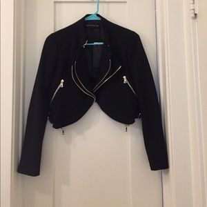 Zara Black Cropped Blazer