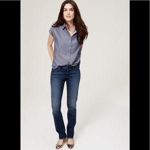 Ann Taylor LOFT Curvy Straight Leg Jeans
