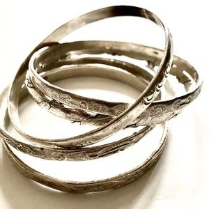Set of Sterling Silver Bangles