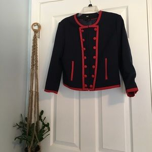 H&M Jackets & Coats - Unique Blazer with Red Piping and Buttons