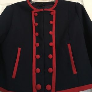 Unique Blazer with Red Piping and Buttons