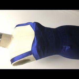 DVF silk blue dress