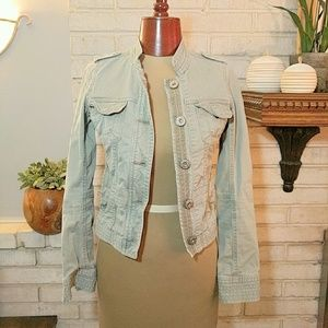 Abercrombie & Fitch Vintage Military Jacket Green