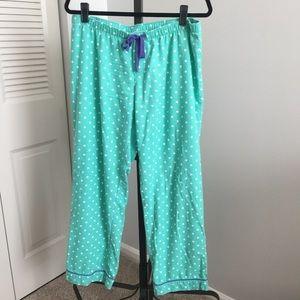 Gap Body Pajama Pants - teal/white - Large