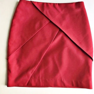 H&M Red Mini Skirt size 8