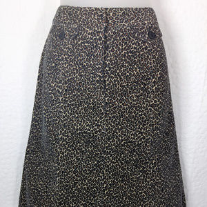 TALBOTS  Stretch Animal Print Skirt SZ 4 P  A28