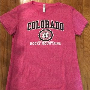Tops - Pink Colorado Rocky Mountains T-Shirt