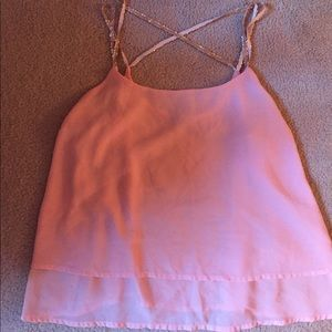 Light pink blouse with embellished straps