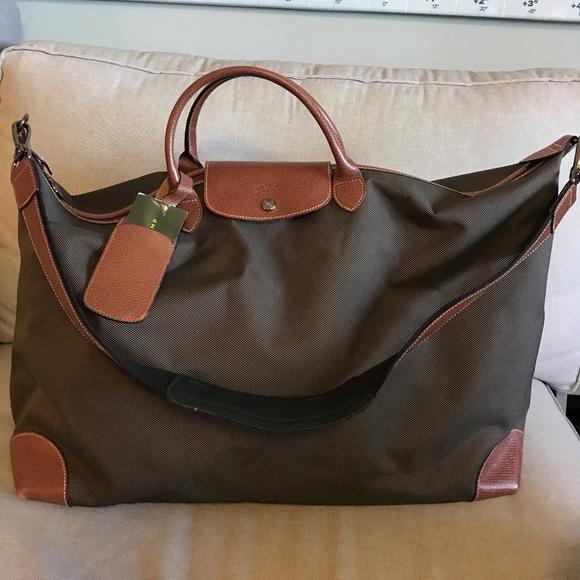 f4a36d5e5532 Longchamp Handbags - Longchamp Boxford Duffel in brown