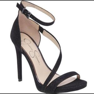 'Rayli' Patent Ankle Strap Sandals