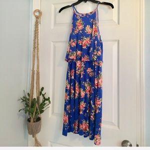 Dresses & Skirts - Fluttery Floral Blouson dress with Keyhole Back