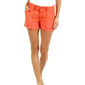 •Free People• Slub Cut Off Cargo Shorts