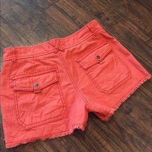 Free People Shorts - •Free People• Slub Cut Off Cargo Shorts