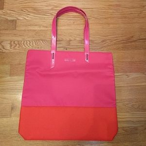 Lancome Paris Pink and Red Tote Bag Flamingo Lips