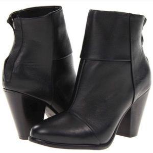 rag & bone Black Leather Boots 37.5 EUC