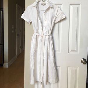Ann Taylor Loft - White button up dress