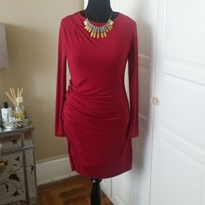 Banana Republic burgundy dress