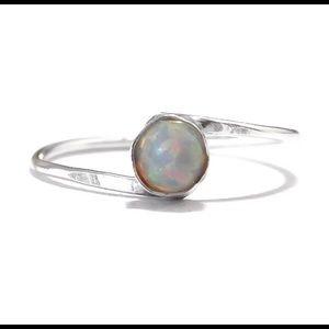 925 Opal Bypass Ring