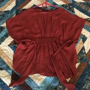 NWOT Forever 21 Autumn Red Poncho Top