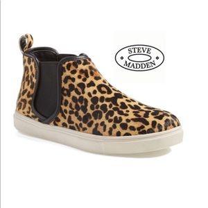 Steve Madden 'Elvinn' Calf Hair Leopard High Top