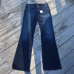 NWT 7 For All Mankind Bootcut Jeans 29 X 34
