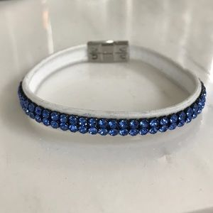 Swarovski Bracelet - Blue and white
