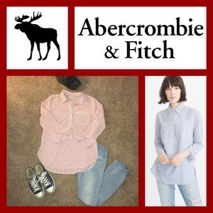 👚 Abercrombie striped pocket pull over tunic