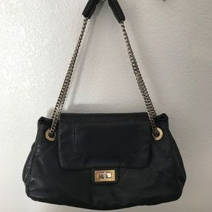 Chanel Drill Black Perforate Hand Bag