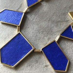 House of Harlow Blue leather and Gold Necklace