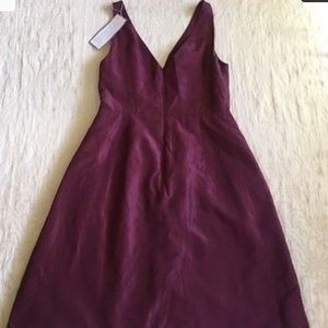 J.Crew Ruthie Silk Spiced Wine Dress