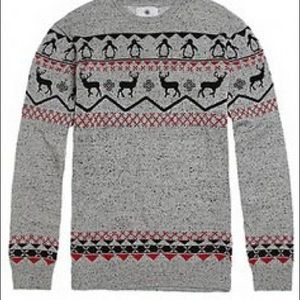 On The Byas Marled Gray Holiday Sweater
