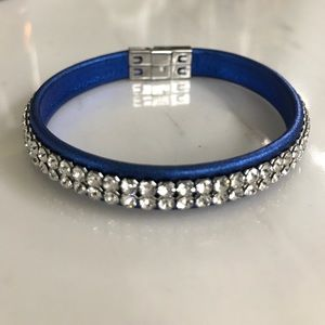 Swarovski Bracelet - Blue with clear stones