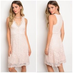 Only S left! Beautiful Chic Lace Mini Dress!