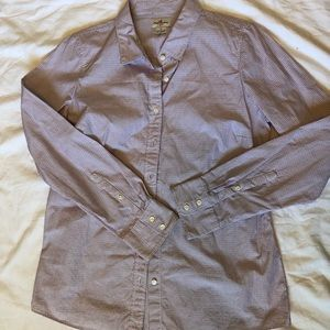 J Crew Haberdashery button down blue and pink