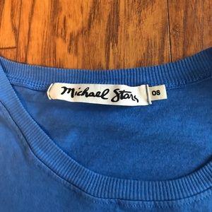 Michael Stars Tops - Michael Stars Blue Crop Top