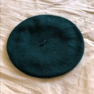 Forever 21 Green teal French beret hat