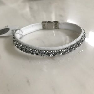 Swarovski Bracelet - white and silver
