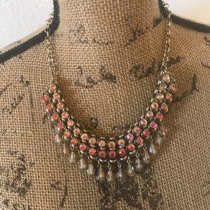 Loft Pink Rhinestone Necklace
