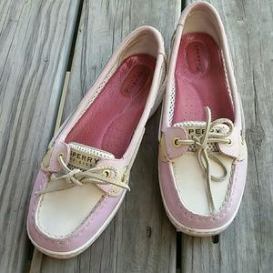 Sperry top sider pink boat shoes