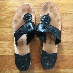 Jack Rogers black sandals size 9