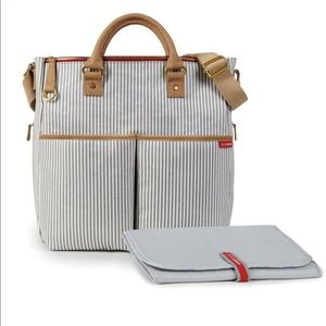 Skip Hop Duo Special Edition Striped Diaper Bag