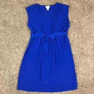Motherhood Maternity Blue Sleeveless Dress