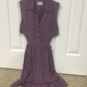 Purple side cut out dress