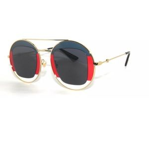 Gucci 0105S Red White and Blue Sunglasses 47mm